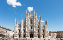 Duomo Of Milan,Italy.Cathedral...