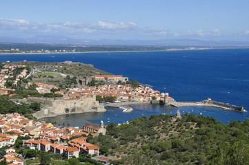 Vue aérienne sur Collioure