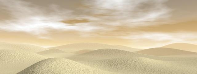 Fototapeta Sand desert - 3D render