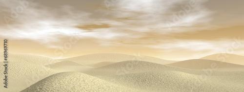 Sand desert - 3D render - 68969710