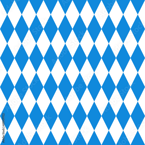 Fényképezés Oktoberfest  background. Bavarian flag pattern.