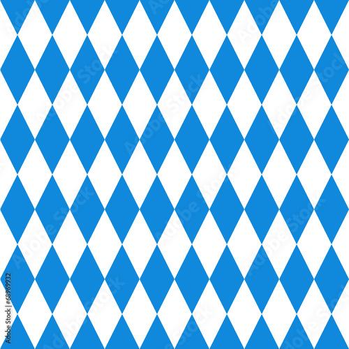 Canvas Print Oktoberfest  background. Bavarian flag pattern.