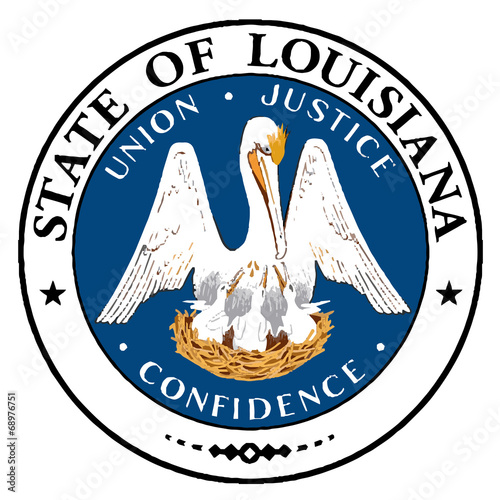 Louisiana State Seal Canvas Print