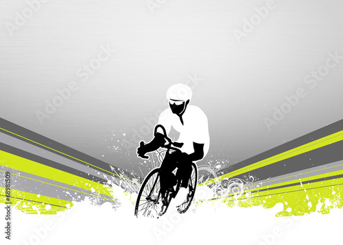 Foto op Plexiglas Fietsen Cycling background