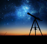 Fototapeta Kosmos - Silhouette of Telescope