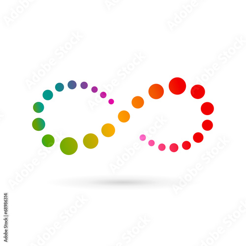 Fotografia  Infinity loop logo icon design template