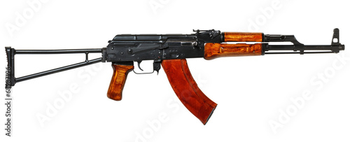 Photo ak 47  isolated on white