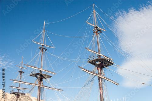 Keuken foto achterwand Schip Old ship mast