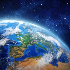 Fototapeta Planeta Ziemia z przestrzeni kosmicznej
