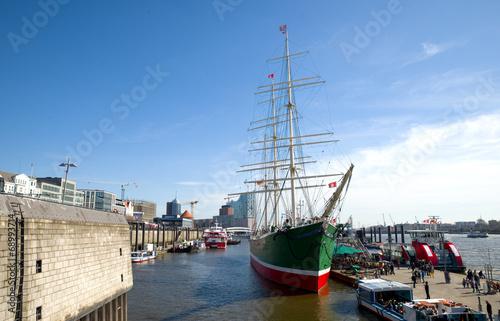 Spoed Foto op Canvas Poort Hafen in Hamburg