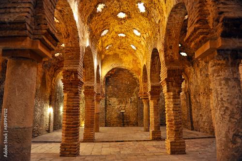 Poster Artistique Hammam, arab baths in Ronda, Málaga, Spain