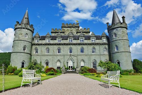 Inveraray castle front view Canvas Print