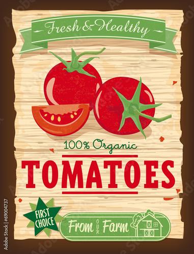 vintage-design-organic-pomidorowy-plakat-vector