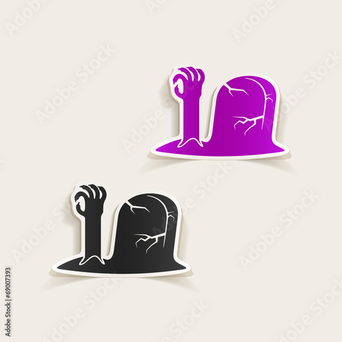 Photo realistic design element: tombstone