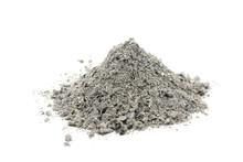 Handful Of Gray Ash On White B...