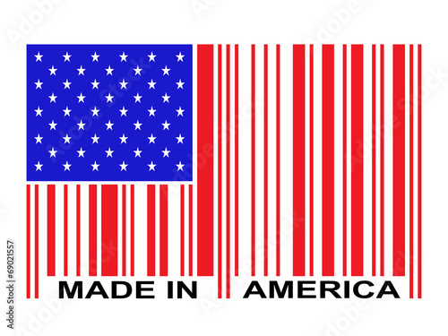 Made In America Barcode Poster