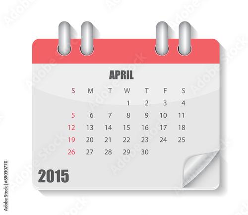Fotografia, Obraz  2015 Year Calendar Vector Illustration