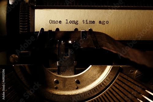 Fotografie, Obraz  old inscription on a typewriter