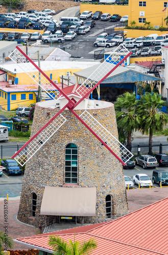 Fotografie, Obraz  Stone Windmill on St Thomas