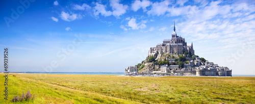 abbazia di Mont Saint Michel Canvas Print