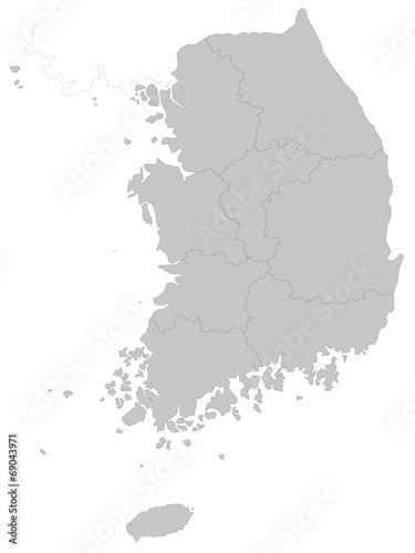 Fotografía  大韓民国の地図