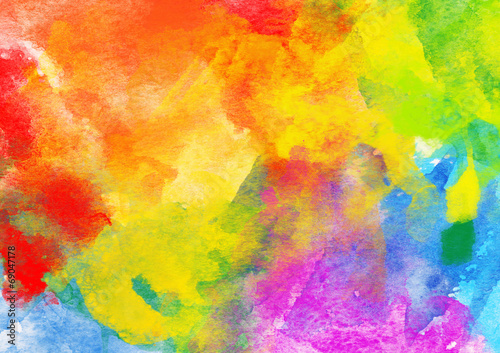 Fotomural  Bright Colorful Watercolor Background.