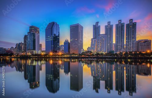 Photo  Bangkok city downtown at sunrise