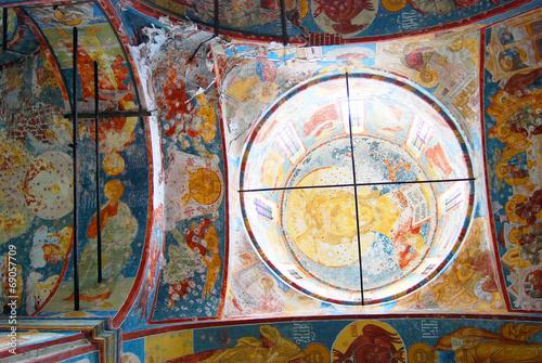 Wall Murals Imagination Church of Saint Nicolas in Yaroslavl, Russia. Interior.