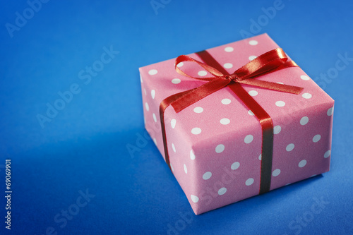 Small Handmade Gift Boxes On Blue Background Buy This Stock Photo