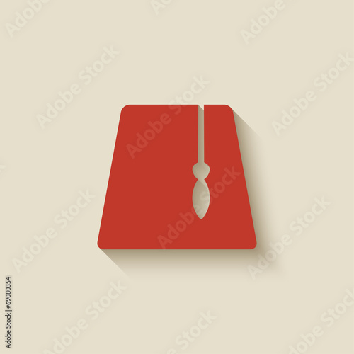 red fez design element Canvas Print
