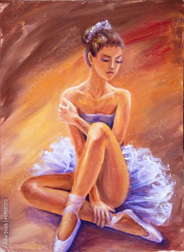 piekna-siedzaca-balerina-obraz-olejny