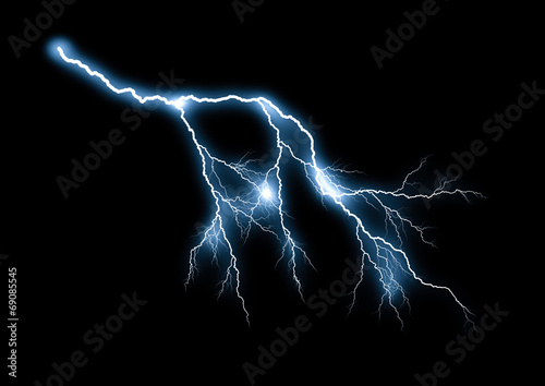 Montage in der Fensternische Onweer Lightning bolt