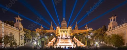 night view of Magic Fountain in Barcelona Canvas-taulu