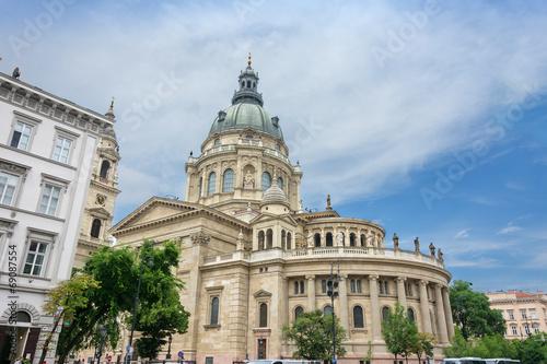 Fotobehang St Stephen's basillica in central Budapest Hungary