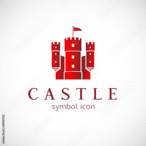 Fotografie, Tablou Abstract Castle Vector Icon