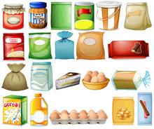 Set Of Foods