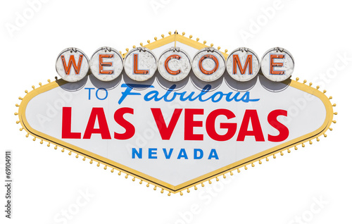 Foto op Aluminium Las Vegas Las Vegas Welcome Sign Cut Out
