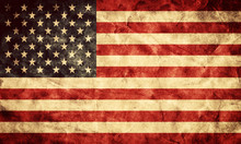 USA Grunge Flag. Item From My Vintage, Retro Flags Collection