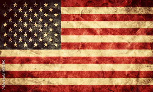 Poster Retro USA grunge flag. Item from my vintage, retro flags collection
