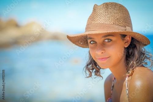 Fotografie, Obraz  ragazza al mare