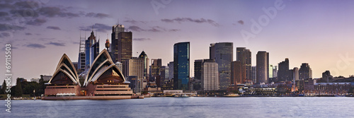 Foto op Canvas Australië Sydney CBD Kirribilli close panorama