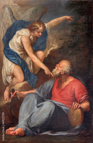 Venice - Prophet Elijah Receiving Bread and Water from an Angel Poster