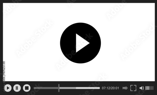 Canvas Print Web player on white background