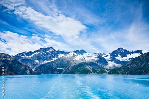 Glacier Bay in Mountains in Alaska, United States Canvas Print