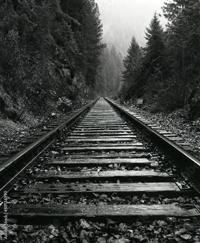 Poster Voies ferrées North Idaho Train Tracks