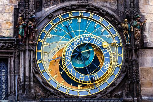 Fotobehang Praag Detail of the Prague Astronomical Clock in the Old Town,Prague