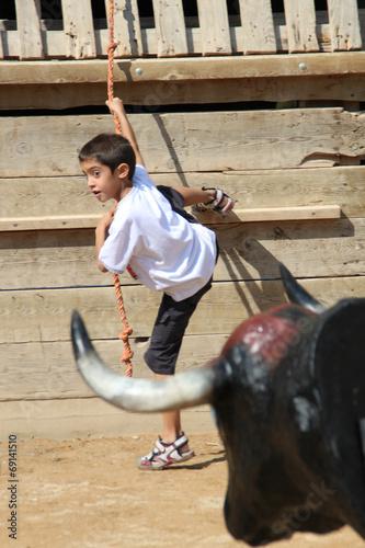 Deurstickers Stierenvechten Burlando al toro