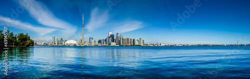 Photo  Toronto waterfront skyline panorama, Ontario, Canada