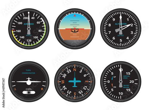 Photo aircraft gauges