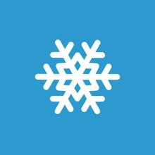 Snowflake Icon, White On The B...